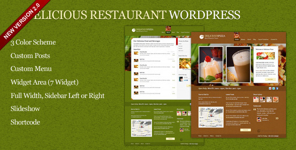 Restaurant WordPress Theme Delicious