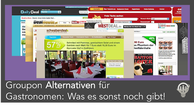 Groupon Alternativen für Gastronomen