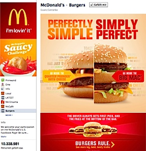 Facebook Restaurant McDonalds