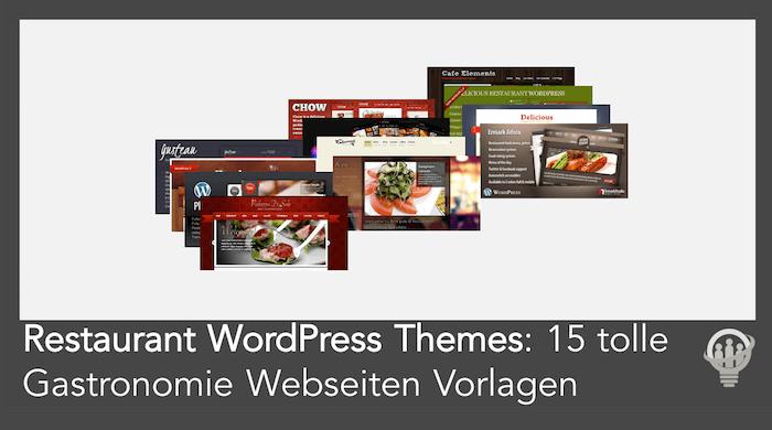 Restaurant WordPress Themes Übersicht