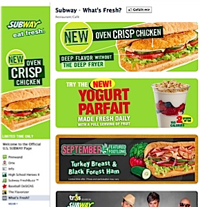 Facebook Fanseite subway