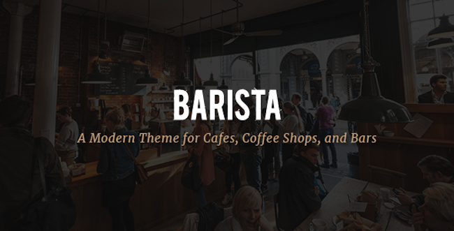 Restaurant WordPress Theme Barista
