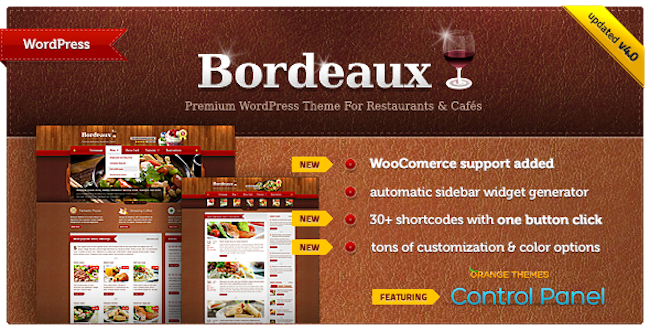 Restaurant WordPress Theme Bordeaux