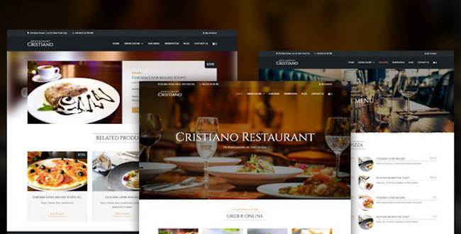 Restaurant WordPress Theme christiano