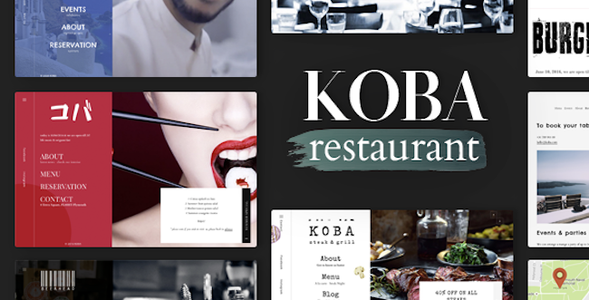 Restaurant WordPress Theme koba