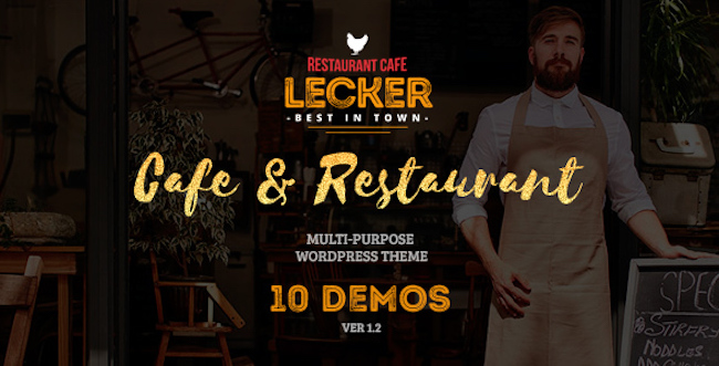 Restaurant WordPress Theme lecker