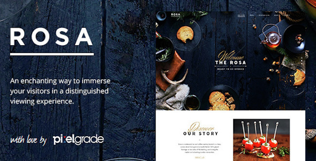 Restaurant WordPress Theme rosa