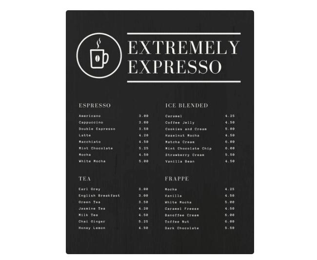 77 kostenlose speisekarten vorlagen zum selbst gestalten. Black Bedroom Furniture Sets. Home Design Ideas