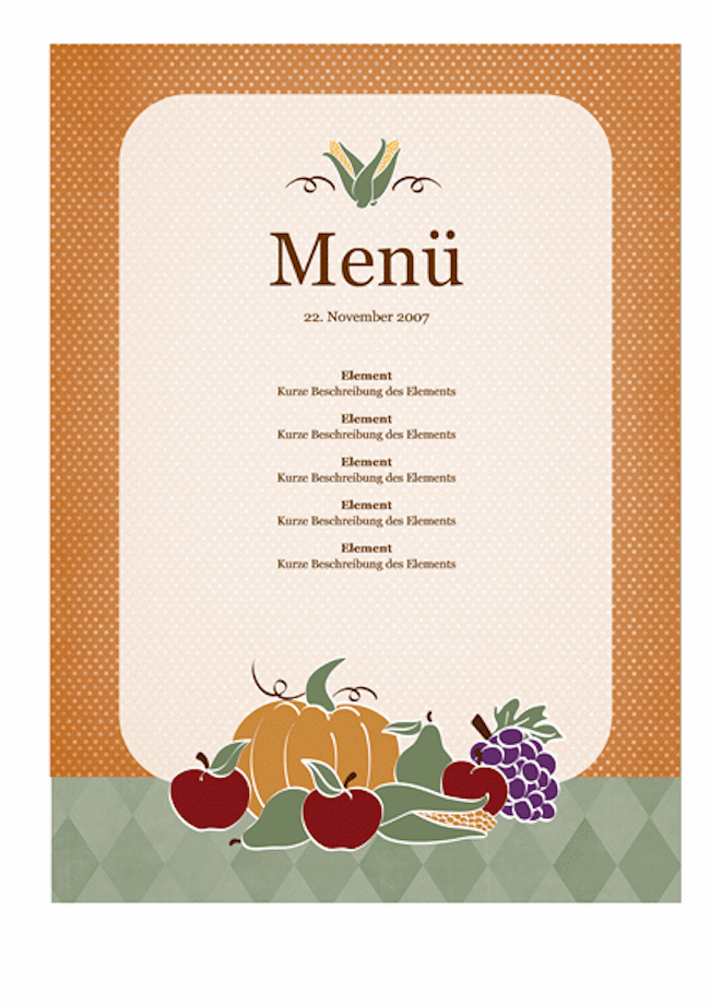 Template Menu Restaurant Word